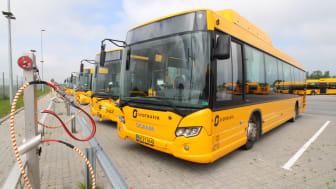 Umove invisterede ialt i 44 nye Scania Citywide LE-busser til biogas