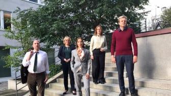 Gustav Hemming (C), Irene Svenonius (M), Ella Bohlin (KD), Anna Starbrink (L) och Tomas Eriksson (MP)