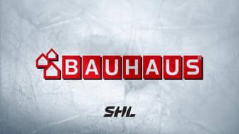 SHL och BAUHAUS förlänger avtalet med ytterligare tre år