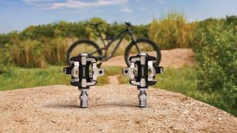 Pedalserie som är testad för extrem användning och är kompatibel med  SHIMANO SPD-SL och SPD-klossar för både landsvägscykling och mountainbike