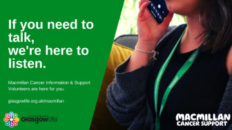 Macmillan @ Glasgow Libraries launches new cancer support phone service