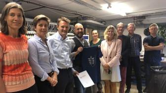 Den lille Hørsholm-virksomhed fik besøg af kommunens erhvervsudvalg