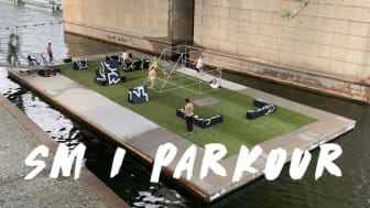 SM i parkour 4 september 2021. Liljeholmskajen.