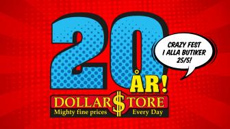 DollarStore fyller 20 år - firar med massivt tårtkalas