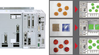 RCX340 Controller and RCXiVY2+ (LEFT),  Handles Irregular Shaped Products such as Foodstuffs and Clothing (RIGHT)