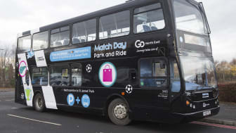 The X50 Match Day Park and Ride bus has been given a magpie makeover