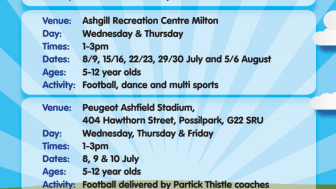 Football, dance and multi sports