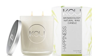 iKOU Wax Candle stort Happiness