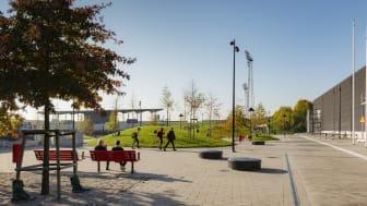 Arenaparken i Lund. Foto: Fojab