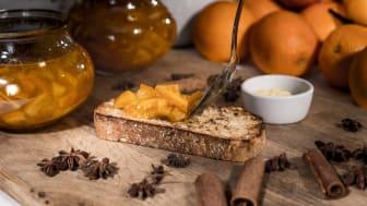 Hjemmelaget appelsinmarmelade som garantert vil imponere frokostgjestene