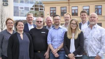 Deltagarna i Forest Business Accelerator 2019 tillsammans med affärsrådgivare på BizMaker
