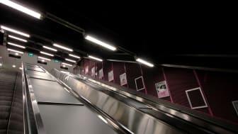 KONE levererar nya rulltrappor till Stockholms tunnelbana
