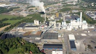 Mälarenergi investerar 1,7 miljarder kronor i nya Block 7 och ersätter kol och olja med återvunnet trä som bränsle. Fotomontage: Scheiwiller Svensson Arkitektkontor AB