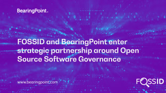FOSSID and BearingPoint enter strategic partnership around Open Source Software Governance