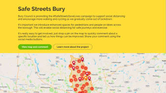 One week left to share your ideas to make Bury's streets safer for walking and cycling