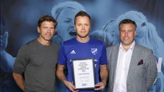 Magnus Arnersten, IFK Mariefred. Här tillsammans med Jesper Blomqvist och Mikael Tykesson.