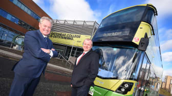 Kevin Carr Managing Director of Go North East with Director of Business Development at Gateshead College, Ivan Jepson