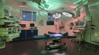 En af de netop indviede operationsstuer i Vejle. Det er blandt andet erfaringer herfra som Arkitema vil bruge på Regionshospitalet Silkeborg.