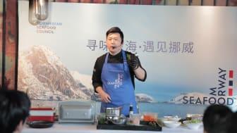 Kokkedemonstrasjon i Kina