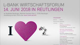 L-Bank Wirtschaftsforum in Reutlingen