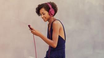 Klæd din musik lækkert på med personlig  Hi-Res-lyd fra Sony
