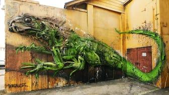 Big trash animals by Bordalo II part of No Limit Street Art