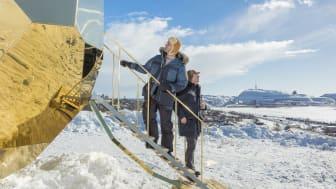 Hett att basta i Riksbyggens äggformade bastu i Kiruna