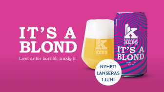Den 1 juni lanseras Kees It´s a Blond på Systembolaget.