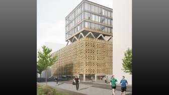 Gym och parkeringshus i Ulriksdal. Bild: Scheiwiller Svensson Arkitektkontor