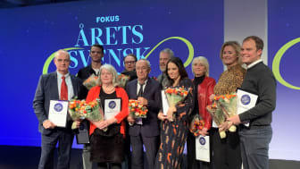 Årets svensk 2019. Michael Pirosanto, vd Gårdstensbostäder fick utmärkelsen Årets samhällsbyggare (längst till vänster).