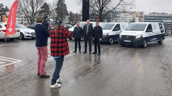 Upplands Motor först i Sverige med att leverera Mercedes-Benz helelektriska transportbil