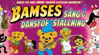 Bamses sång- och dansföreställning kommer till Vara Konserthus den 5 maj.