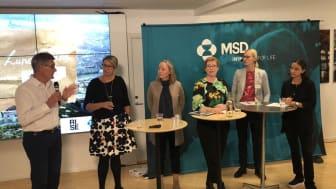 Från vänster: Peter Graf,  Sofia Palmqvist,  Lena Sharp, Anna Starbrink, Erika Ullberg och Sofia Kacim.