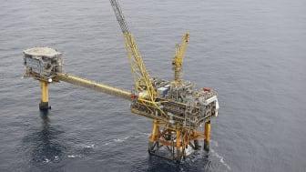 Haraldfeltet har leveret data til studie, der viser, at vind- og bølgeenergi på et flydende fundament potentielt kan forbedre CO2-udledningen fra offshore olie- og gasproduktion.