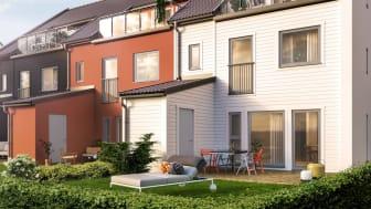 Exempel på radhusmodell, LB-Hus
