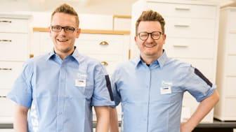 Butikksjef Ole Anders Eidsør og Distriktssjef i Nord-Vest Andre Skåre