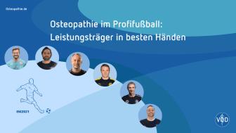 Osteopathen sind im Profifußball geschätzte Experten.