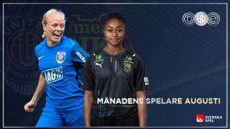 Jalkerud och Jusu Bah Månadens Spelare i OBOS Damallsvenskan och Elitettan