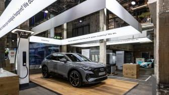 Audi viser klima-fokus hele vejen rundt om produktet på GREENTECH FESTIVAL