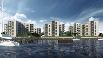 Arkitektgruppen i salg med nyt boligprojekt i Horsens Havn