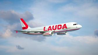 Bild: Laudamotions Airbus A320. Bild: Laudamotion