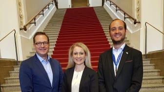 v.l.n.r.: Dr. Martin Huber (Landtagsabgeordneter und Leiter des CSU-Umweltforums), Andrea Belegante (BdS-Hauptgeschäftsführerin), Patrick Birnesser (BdS-Referent für Wirtschaft und Soziales)