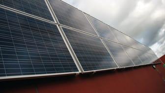 Solceller på Wexnets datorcenter Green Data Center i Växjö.