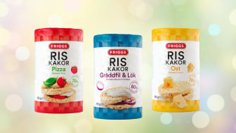 Friggs riisikakkujen uusi pakkausilme