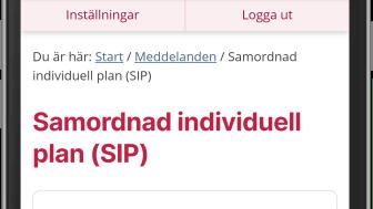 Alla som har en upprättad samordnad individuell plan kan nu läsa den på 1177.se