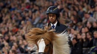 Jamila Berg, klar för världscup på Sweden International Horse Show. Foto: Haide Westring