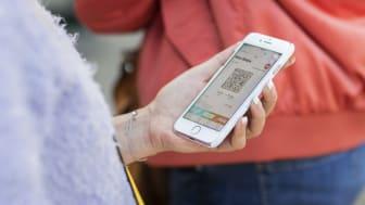 Antalet resenärer som köper sin biljett i Skånetrafikens app har stigit procentuellt hela 2020.