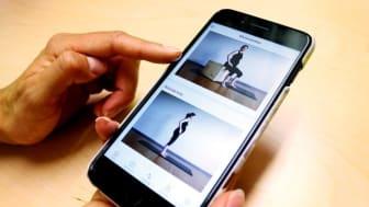 Forskare vid Linköpings universitet har utvecklat en app som stöttar kvinnor till en hälsosam viktuppgång och livsstil under graviditeten. Foto: Ulrik Svedin