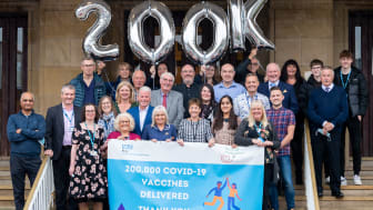 200,000 COVID-19 Vaccines Delivered, Thank you