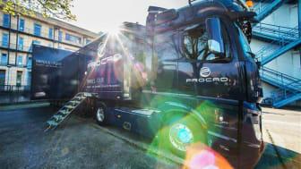 """Zweieinhalb Jahre lang brachte der PROCAD-Truck voller PLM-Wissen """"Digitalisierung auf die Straße"""". Foto: PROCAD"""